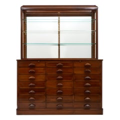 Antique Haberdashery Cabinet with Display Case
