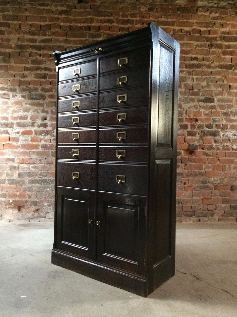 Antique Haberdashery Chest of Drawers Estate Cabinet Oak ...