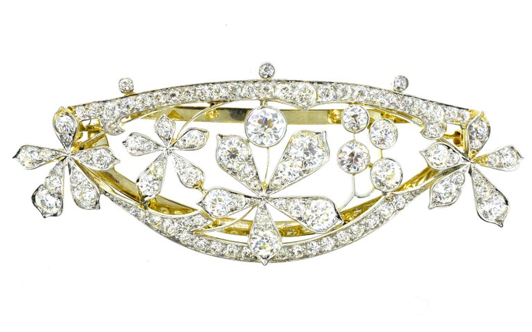 Antique Hair Barrette in Platinum and Diamonds, circa 1895 by Kirkpatrick For Sale 6