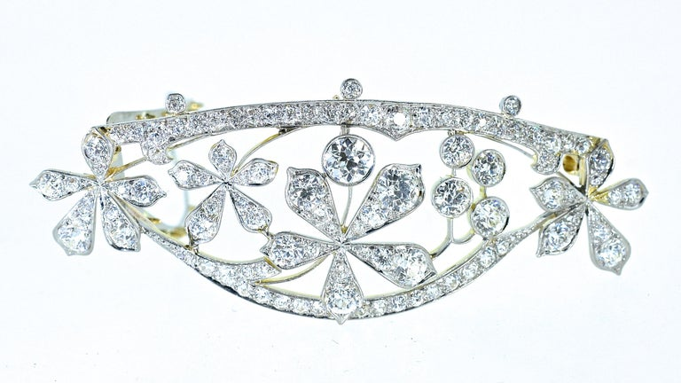 Antique Hair Barrette in Platinum and Diamonds, circa 1895 by Kirkpatrick In Excellent Condition For Sale In Aspen, CO
