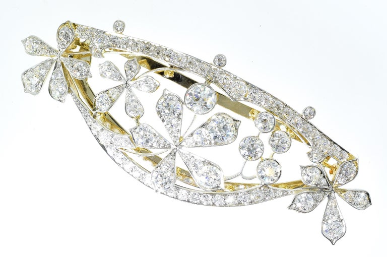 Antique Hair Barrette in Platinum and Diamonds, circa 1895 by Kirkpatrick For Sale 5