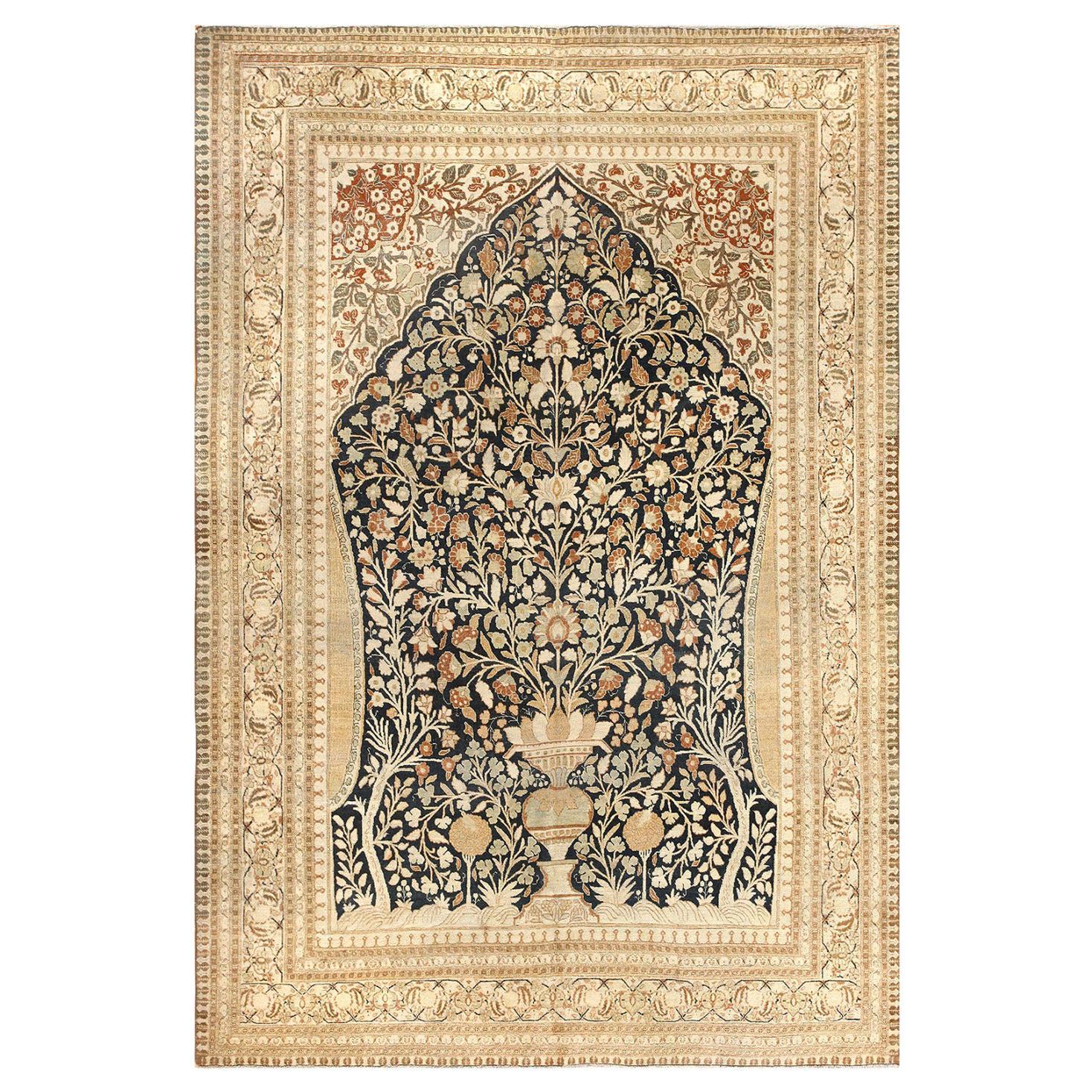 Antique Haji Jalili Tabriz Tree of Life Carpet. Size: 6 ft 9 in x 10 ft