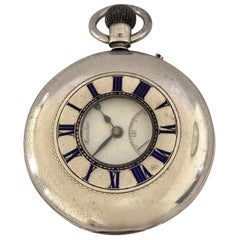 Antique Half Hunter J. W. Benson, London Silver Pocket Watch