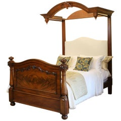 Antique Half Tester Bed in Mahogany, WHT2