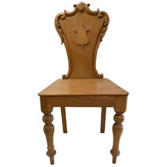 Antique Hall Chair, circa 1840, England
