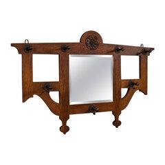 Antique Hall Mirror, Scottish, Valet, After Mackintosh, Arts & Crafts, Victorian