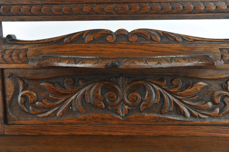Antique Hall Stand Hall Tree Entryway Organizer Carved