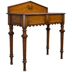 Antique Hall Table, Scottish, Oak, Victorian Gothic, Side, Dresser, circa 1860