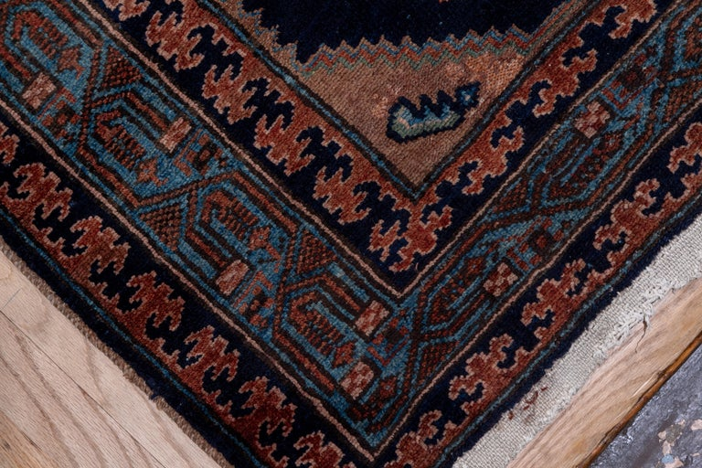 Hand-Knotted Antique Hamadan Runner For Sale