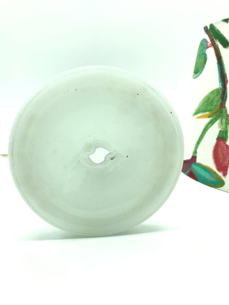 Antique Hand Blown Electrified Oil Lamp with a Limited Edition ArtbyMay Shade In Good Condition For Sale In Søborg, DK