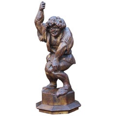 Antique Hand-Carved Gothic Style Quasimodo / Hunchback of Notre Dame Sculpture