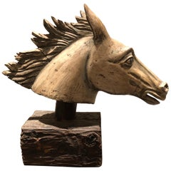 Antique Hand Carved Horse Head