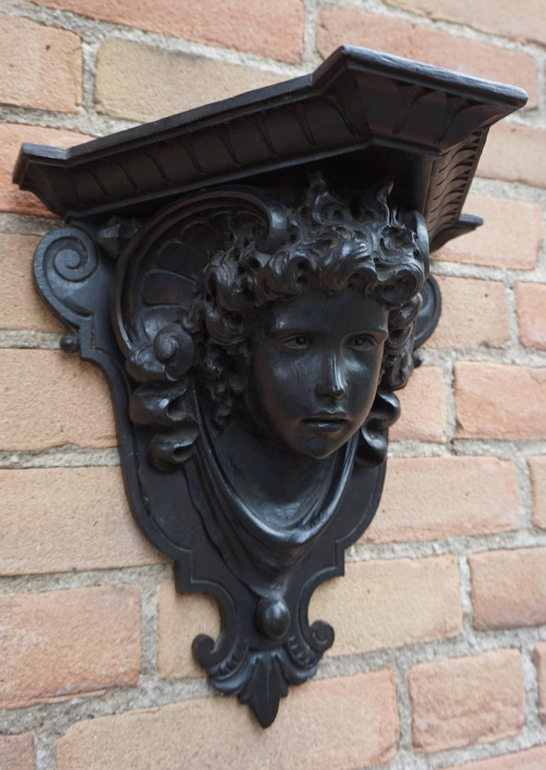 Wonderful 19th century antique with Florence maker's mark.  Anyone who has ever been to Florence, Italy will remember the wonderful sculptures and also the hand-carved, historical decorations on some of the antique doors and in churches. This late