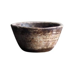 Antique Hand Carved Stone Bowl, 19th Century