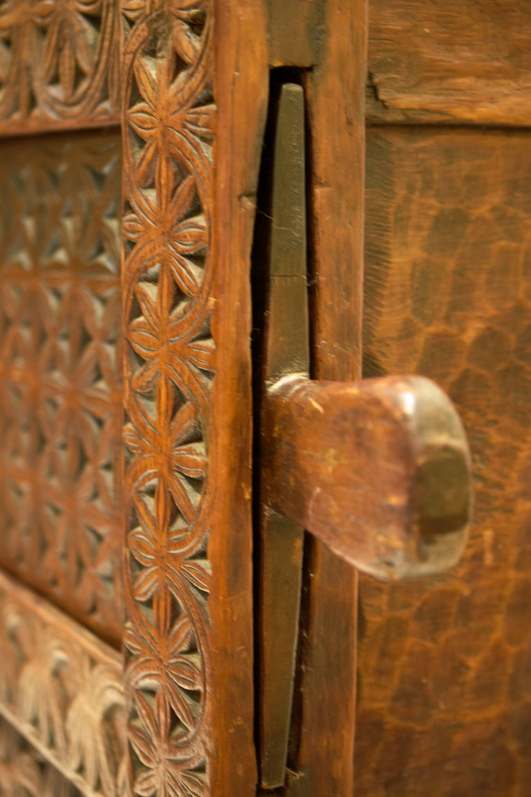 Antique Hand-Carved Swat Chest from Pakistan For Sale 4