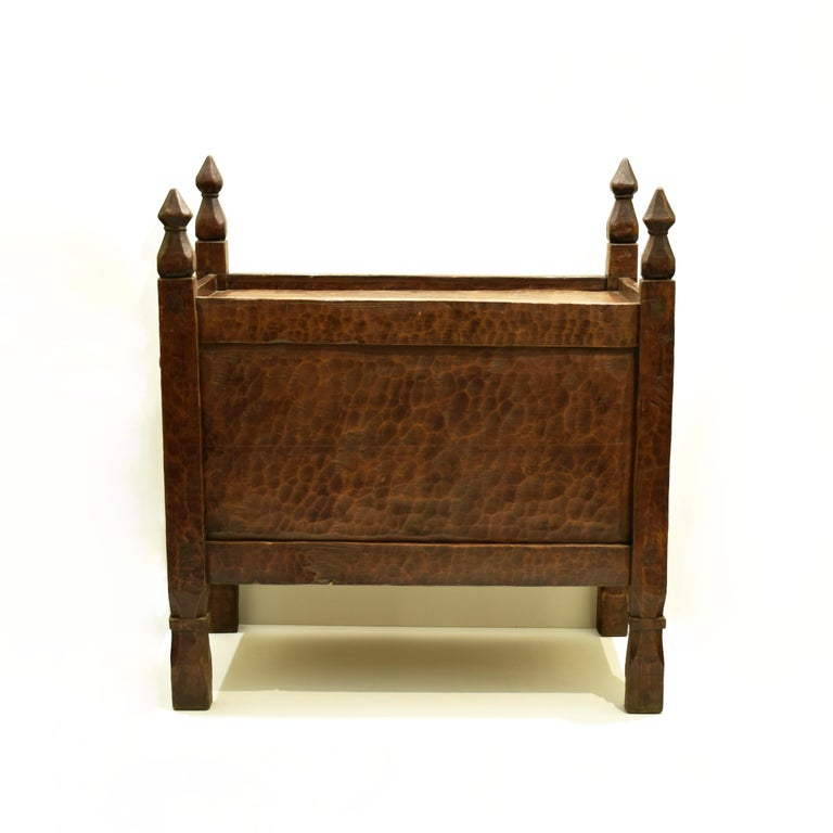 Antique Hand-Carved Swat Chest from Pakistan For Sale 7