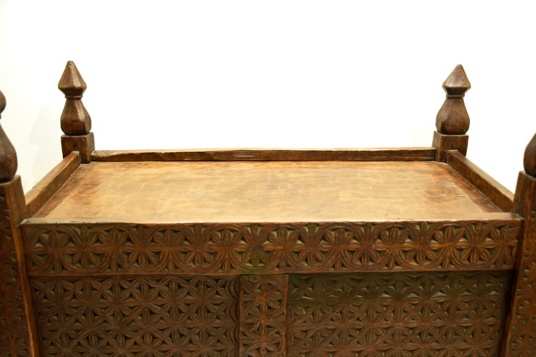 Antique Hand-Carved Swat Chest from Pakistan For Sale 1