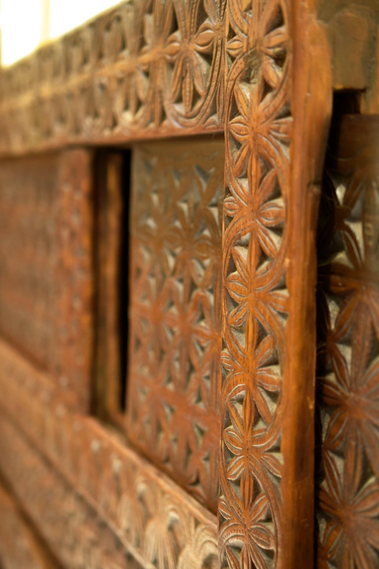 Antique Hand-Carved Swat Chest from Pakistan For Sale 3