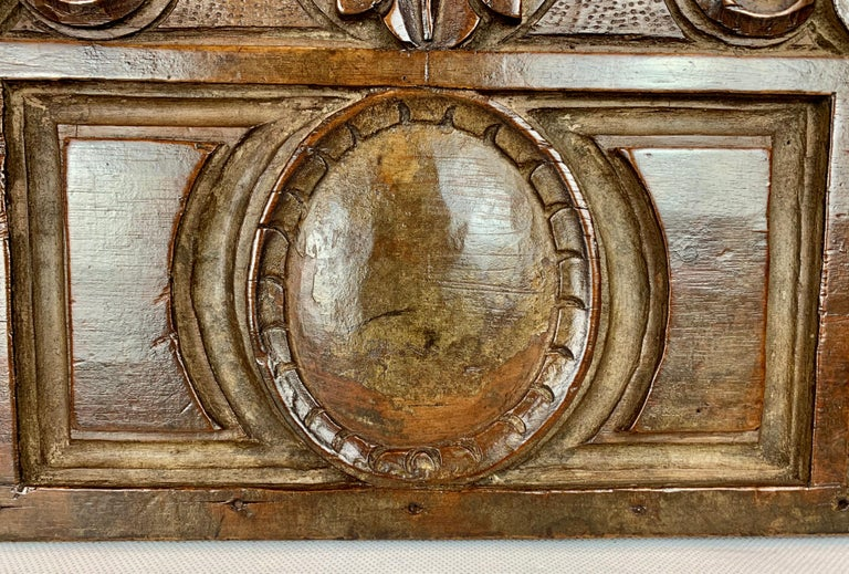 Victorian  Antique American Hand Carved Walnut Panel, 19th century For Sale