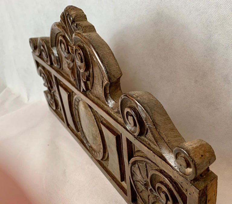 Late 19th Century  Antique American Hand Carved Walnut Panel, 19th century For Sale