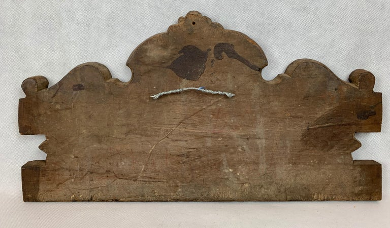 Antique American Hand Carved Walnut Panel, 19th century For Sale 2