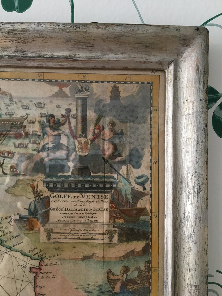 Antique Hand Colored Map of Venice, Italy, Late 18th Century For Sale 6