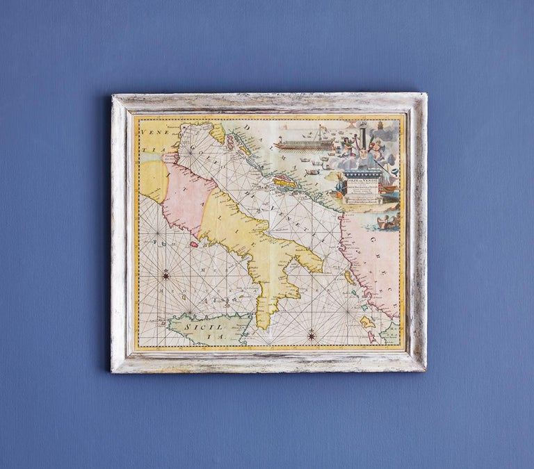Italy, late 18th century  Hand-colored map of Venice.  Measures: H 52 x W 59 cm.
