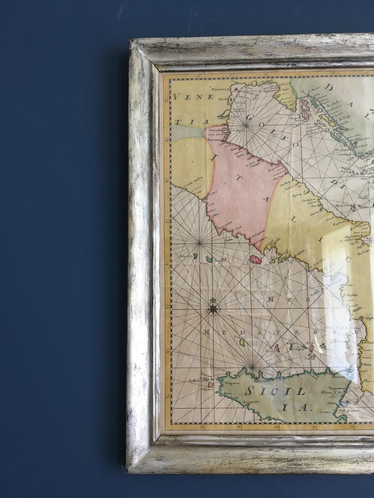 Antique Hand Colored Map of Venice, Italy, Late 18th Century In Good Condition For Sale In Copenhagen K, DK