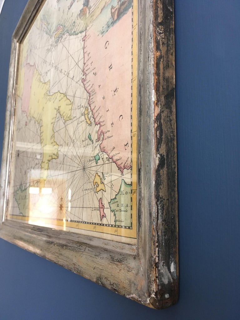 Antique Hand Colored Map of Venice, Italy, Late 18th Century For Sale 2