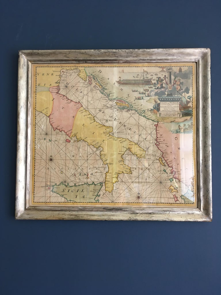 Antique Hand Colored Map of Venice, Italy, Late 18th Century For Sale 3
