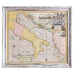 Antique Hand Colored Map of Venice, Italy, Late 18th Century
