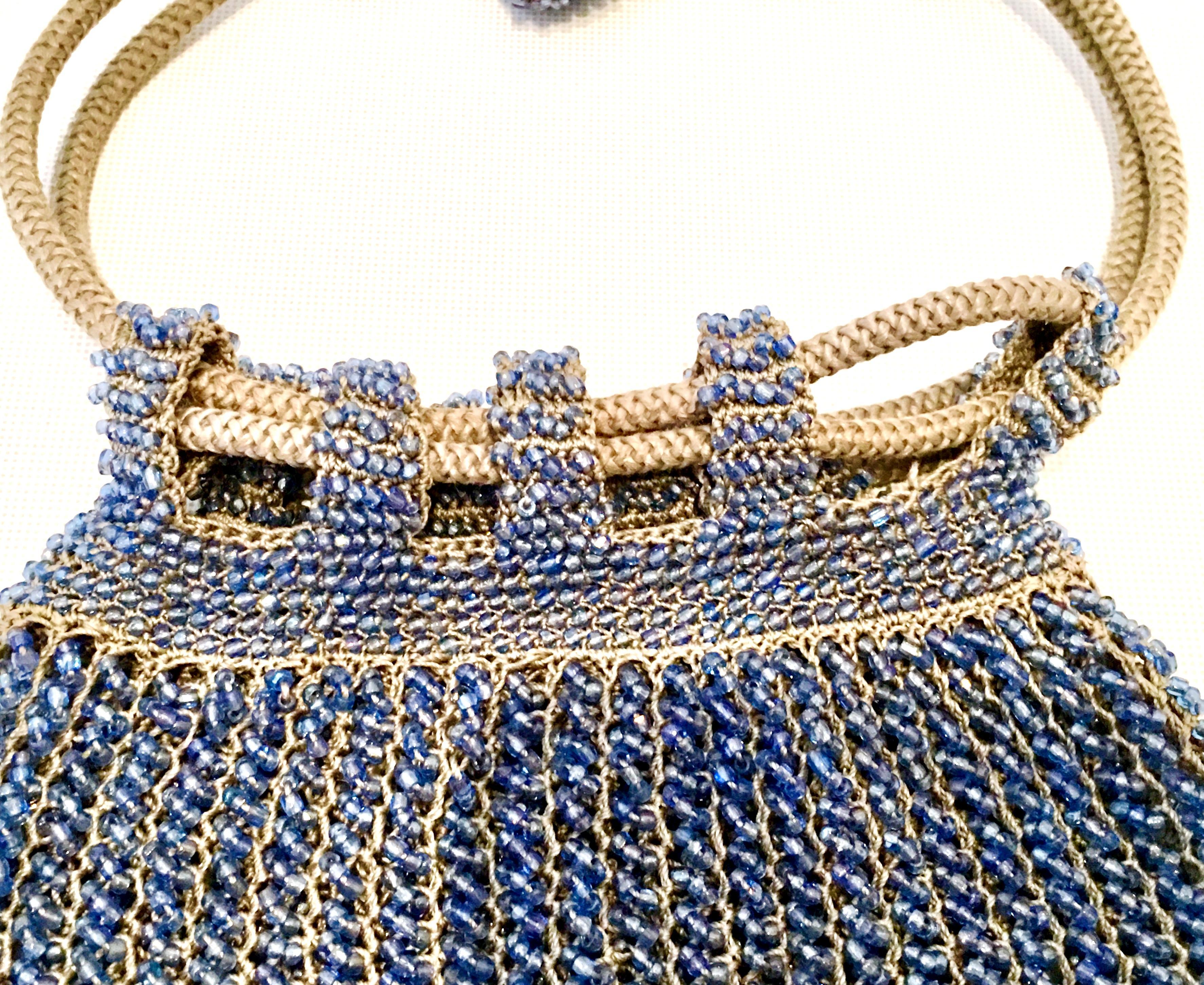 Antiques Buy Cheap Antique Crochet Purple Iridescent Bead Ball Tassel Chain Handle Flapper Purse Clothing, Shoes & Accessories
