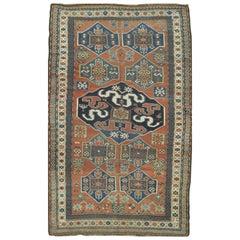 Antique Hand Knotted Kazak Rug