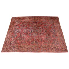 Antique Hand Knotted Persian Sarouk Rug, circa 1920s