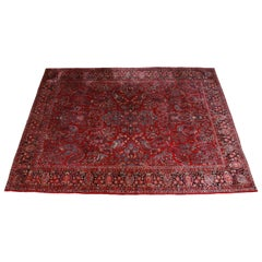 Antique Hand Knotted Persian Sarouk Rug, circa 1930s