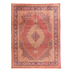 Antique Hand Knotted Persian Tabriz