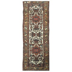 Antique Hand Knotted Wide and Long Runner Rug