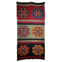 Antique Hand Loom Wall Hanging or Throw