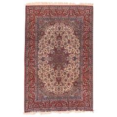Antique Handmade Isfahan Persain Rug