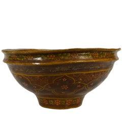 Antique Hand-Painted Indian Bowl