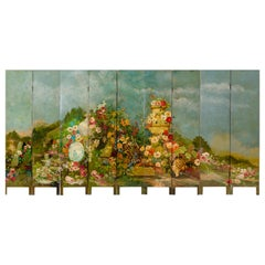 Antique Hand-Painted Screen Double-Sided