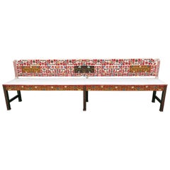 Antique Hand Painted Swedish Bench