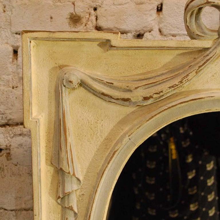 Hand-Carved Antique Hand Carved Oak Jugendstil or Art Nouveau Mirror from France For Sale