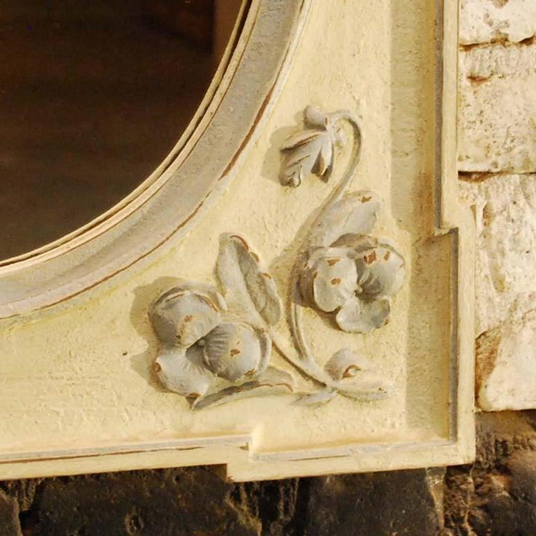 19th Century Antique Hand Carved Oak Jugendstil or Art Nouveau Mirror from France For Sale