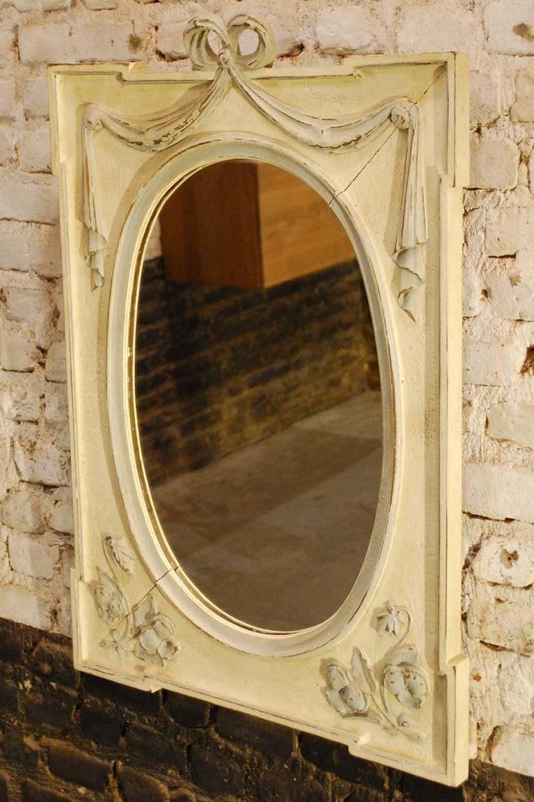 Antique Hand Carved Oak Jugendstil or Art Nouveau Mirror from France For Sale 1