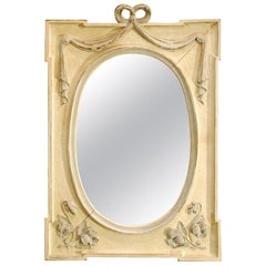 Antique Hand Carved Oak Jugendstil or Art Nouveau Mirror from France