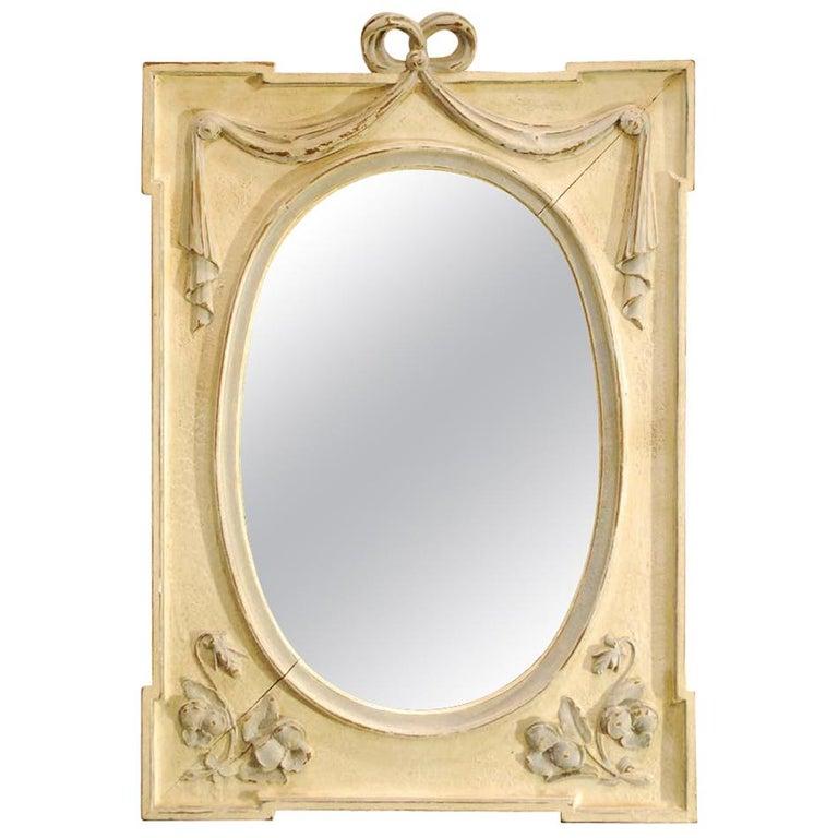 Antique Hand Carved Oak Jugendstil or Art Nouveau Mirror from France For Sale
