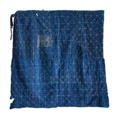 "Antique Handcrafted Patched ""Boro"" Textile in Indigo Dye, Japan, 20th Century"