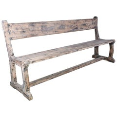 Antique Handcrafted Rustic Bench