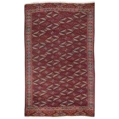 Antique Turkoman Yomut Main Carpet. 19th Century. 7.7x12.2 Ft